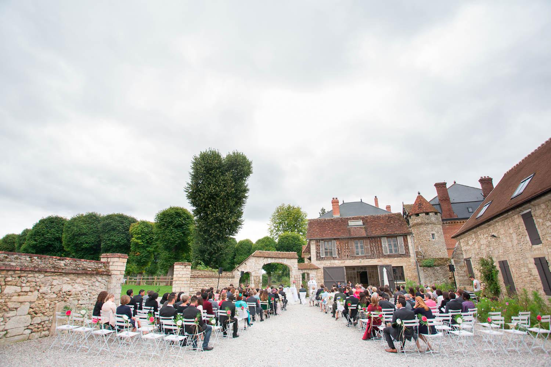 chateau de la trye cérémonie mariage exterieur