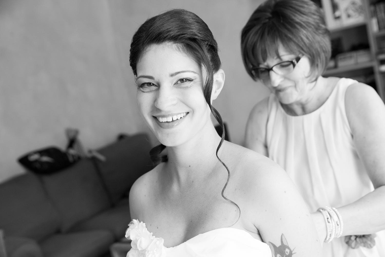 réparation de la mariée